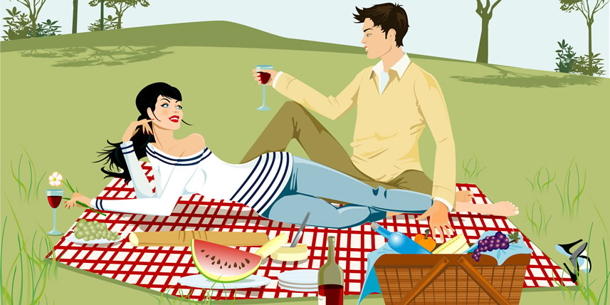 illustration-couple-having-picnic-in-grass